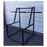 Squat Rack With Bar