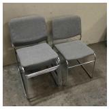 4 Cloth & Metal Chairs