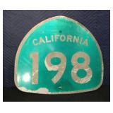 California 198 Sign