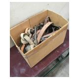 Box of Misc Horse Tack