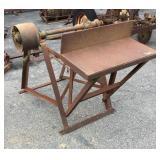 Antique Wood Cutting Deck
