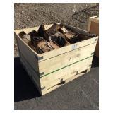 Wooden Crate of Oak Firewood