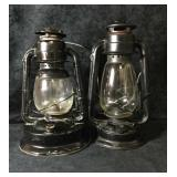 2 Antique Oil Lanterns