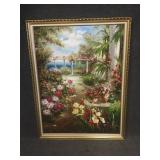 Mediterranean Painting with Decorative Frame
