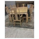 Cream Colored Dining Room Tables w/ 10 Chairs
