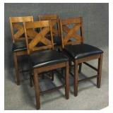 Charleston Rubberwood Tall Dining Room Chairs