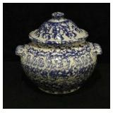 Blue and White Stoneware Pottery
