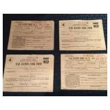 4 War Ration Booklets