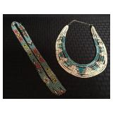 Beaded Indian Style Necklace & Beaded Band