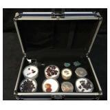Semi Precious Stones & Stones in a Lockable Box