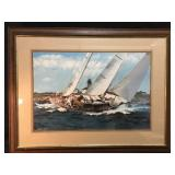 Sailing Picture by Artist Stephen Sebastian