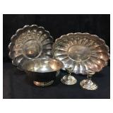 2-Reed & Barton Trays (100 & 110) Oblong and Round