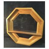 Wood Window Look Shelf