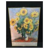"""Framed Print """"Sunflowers"""" by Claude Monet Poster"""