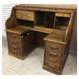 Oak Crest Roll Top Desk