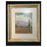 Lost Dutchman's Mine Watercolor Signed By