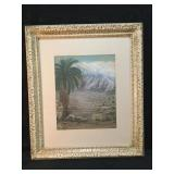 Palm Springs Water Color Signed By Artist