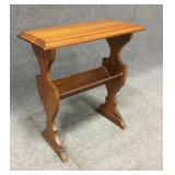 Wood Side Table w/ Shelf