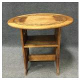 Accent Table with Folding Side Bench Seating