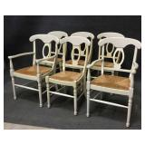 6 Dining Room Chairs w/ Woven Rush Seat