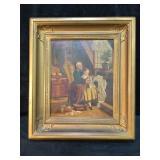 Antique Painting on Canvas Grandma & G