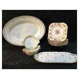 G. Ahrenfeldt Limoges Platter & 5 Dessert Plates,