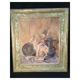 Antique Still Life On Canvas Signed By Artist