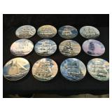 12 Collectible Plates Depicting Great American