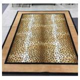 Black and Tan Leopard Print Rug