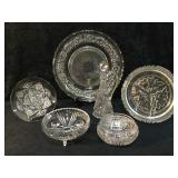 6 Pieces Of Brilliant Crystal and Cut Glass