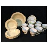 Plant Tuscan China Made in England 8 Cups and