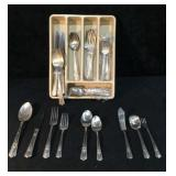 Wallingford Plate AA+ Tray of Eating Utensils - 8