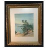 Water Color Emerald Bay, Lake Tahoe, Signed By