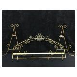 3 Gold Colored Plate Holders