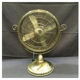 Electric Table fan brushed bronze in color