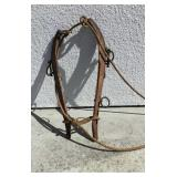 Wood Horse Harness With Rope
