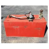 Red 100 Gallon Fuel Tank With Electric Pump