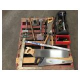 Pallet of Misc Tools & Saws