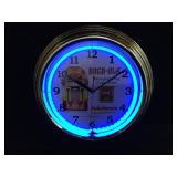 Rock-Ola Neon Wall Clock