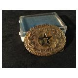 Solid Brass Safe Driver Texaco Belt Buckle with