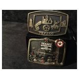 Texaco Brass Belt Buckles
