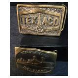 Texaco Brass Belt Buckles USA