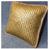 Large Woven Leather Pillow