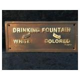 Cast Iron Drinking Fountain Sign