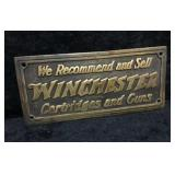Vintage Brass Winchester Sign