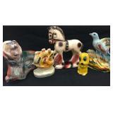 Ceramic Animals and Ship