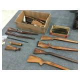 Misc Gun Parts, Barrels, Stocks, Ammo Shells