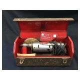 Vintage Metal Box with Electric Dunlap Drill