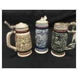 3 Vintage Avon Beer Steins