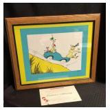 Signed Dr. Seuss Original Drawing w/ COA
